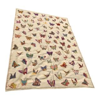 "Handmade Butterfly Kilim Rug - 6'9"" X 9'10"""