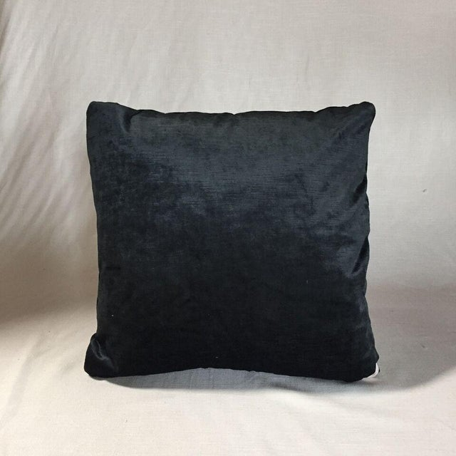 Contemporary Kim Salmela Onyx Velvet Pillow For Sale - Image 3 of 3