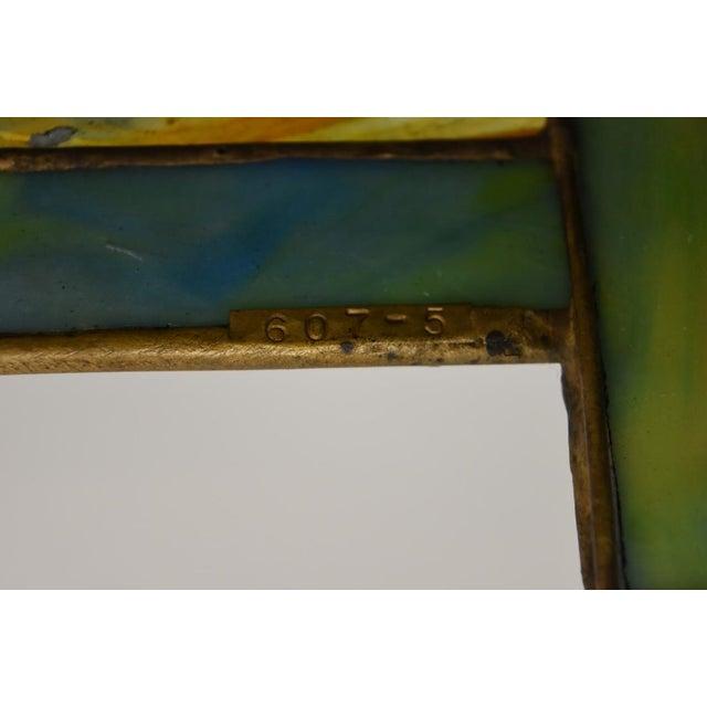 "Tiffany ""Flowering Trellis"" Glass & Bronze Pendant - Image 7 of 8"