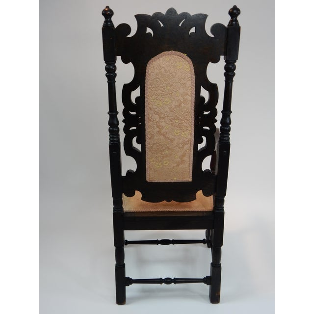 Antique Intricately Carved Oak Throne Chair - Image 4 of 10