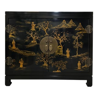 Asian Cabinet/Newly Lacquered For Sale