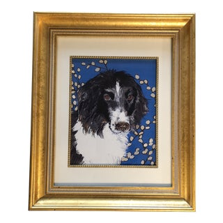 Border Collie Dog Print by Contemporary Artist Judy Henn For Sale