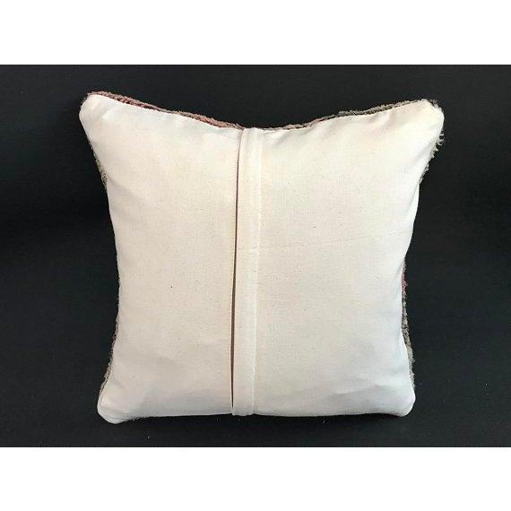 Turkish Anatolian Oushak Wool Pillow Case For Sale - Image 4 of 9