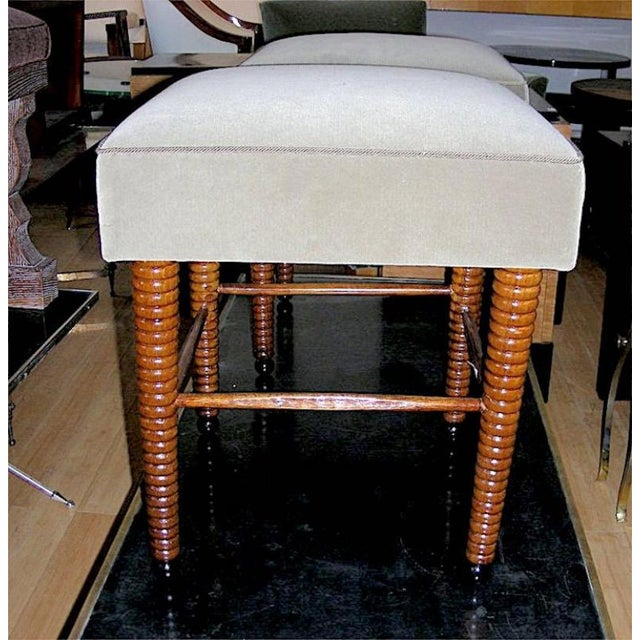 Art Deco Chic Pair of Stools With Exquisite Legs by Maison Jansen For Sale - Image 3 of 5