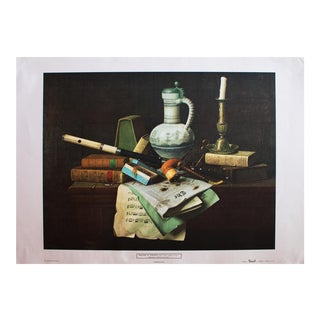 "XL Vintage Print, William M. Harnett ""Symbols of Peace"" For Sale"