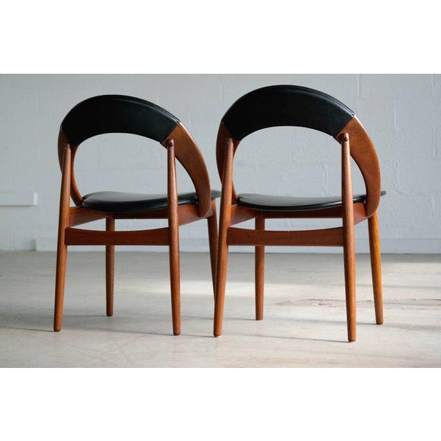 Black Mid-Century Modern Dining Chairs by Arne Hovmand Olsen - Set of 6 For Sale - Image 8 of 10