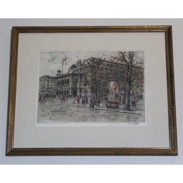 Hans Figura Aquatint on Silk For Sale - Image 11 of 11