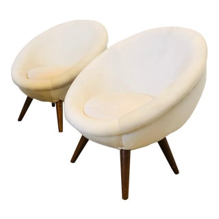 Early 21st Century Vintage Jean Royere Style Chairs- A Pair For Sale