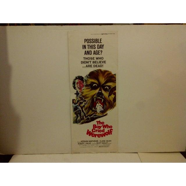 "A Vintage Movie Poster -- ""The Boy Who Cried Werewolf"" -- Starring -- Kerwin Matthews -- 73/229 -- Copyright 1973 --..."