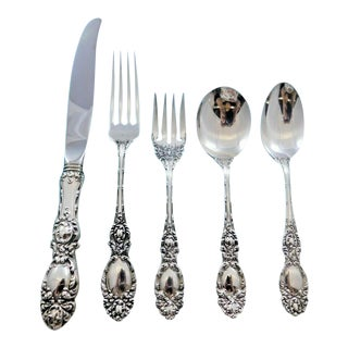 Lucerne by Wallace Sterling Silver Flatware Set for 8 Service 40 Pieces For Sale