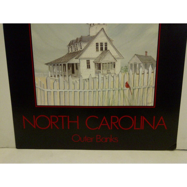 Vintage Travel Vacation Poster of North Carolina's Outer Banks For Sale In Pittsburgh - Image 6 of 6