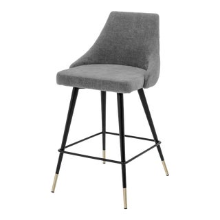 Gray Upholstered Counter Stool | Eichholtz Cedro For Sale