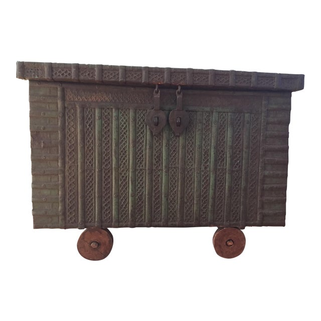 Antique Indian Wedding Trunk - Image 1 of 5