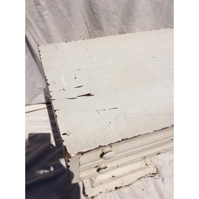 Distressed White Painted Side Table For Sale - Image 5 of 10
