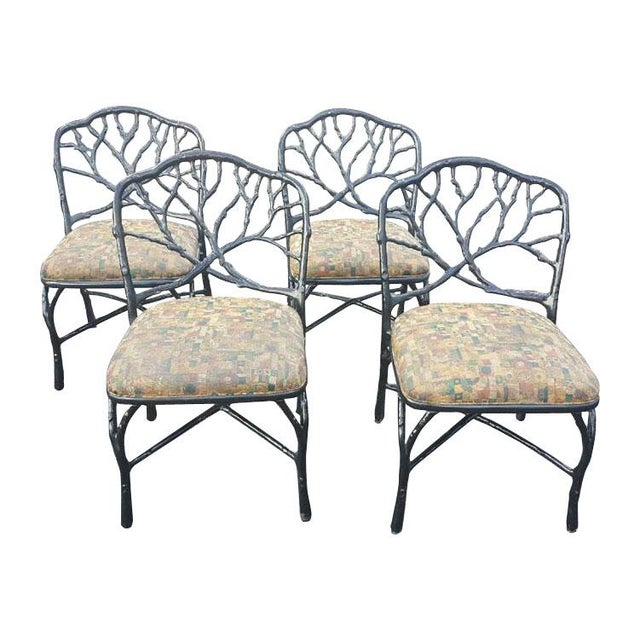 Mid 20th Century Faux Bois Dining Chairs - Set of 4 For Sale In Miami - Image 6 of 6
