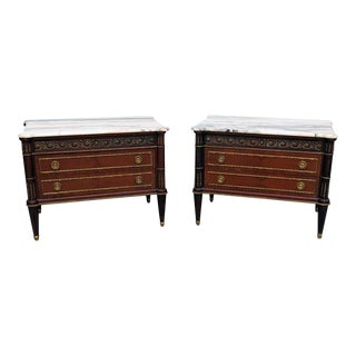 20th Century Regency Marble Top Commodes - a Pair For Sale