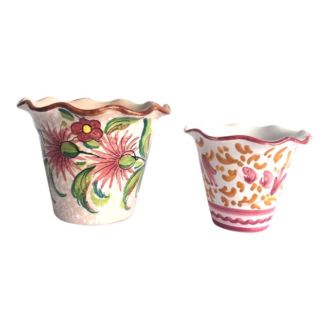Fratelli Fanciullacci Mid Century Italian Pottery Vases - a Pair For Sale