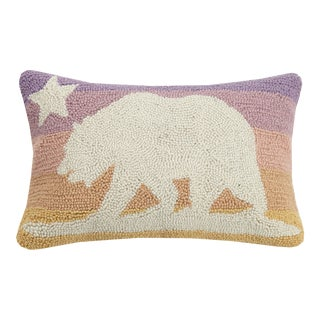 """CA Flag Pastel Sunset Hook Pillow, 12"""" x 18"""" For Sale"""