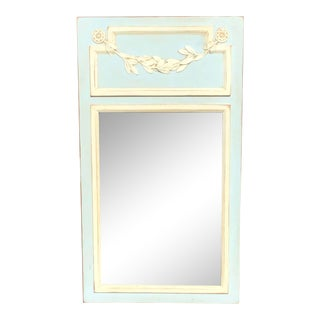 Vintage French LXVI Style Painted Trumeau Mirror For Sale