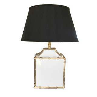 Dana Gibson Pagoda Lamp in White For Sale