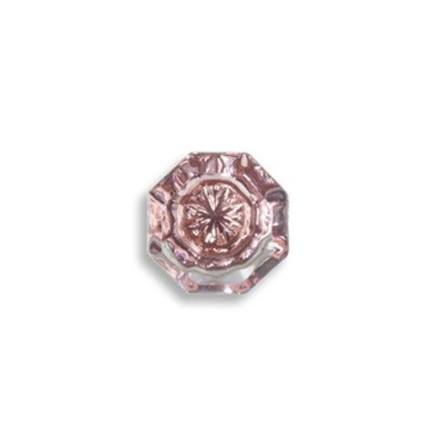 Rose Pink Glass Knobs - Set of 10 - Image 3 of 6