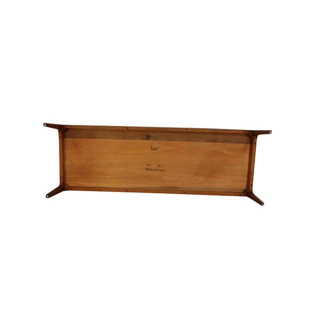 Walnut Mid Century Modern Lane Walnut Coffee Table For Sale - Image 7 of 11