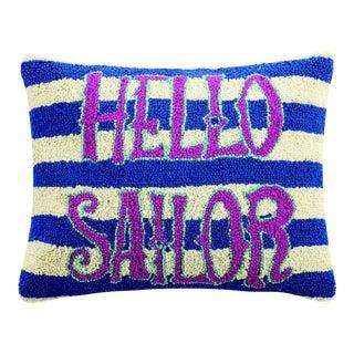 "Hello Sailor Hook Pillow, 16"" x 20"" For Sale"