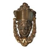 Image of Antique 1900s Brass Door Knocker For Sale