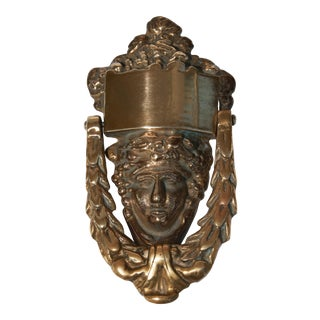 Antique 1900s Brass Door Knocker For Sale