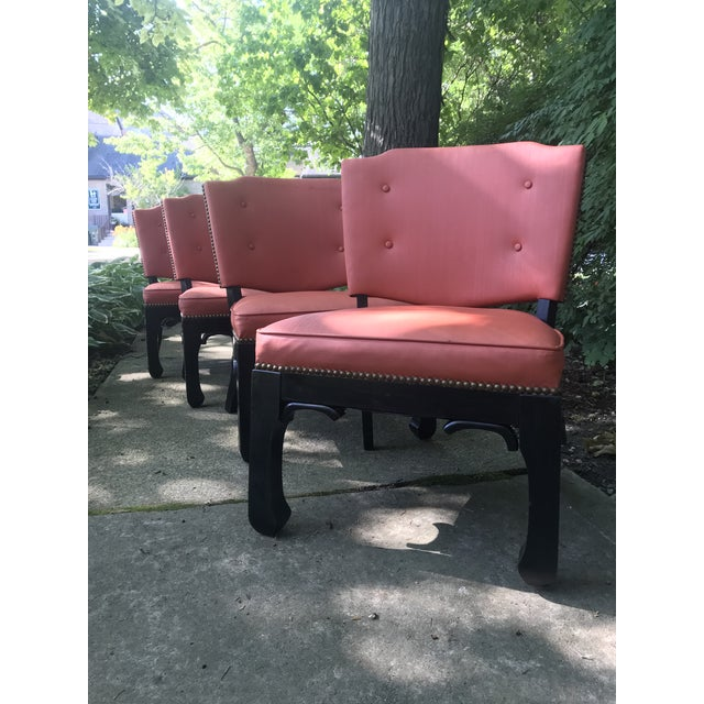 Original everything, coral vinyl with brass stud detail. original black paint has been touched up. low slung, perfect for...