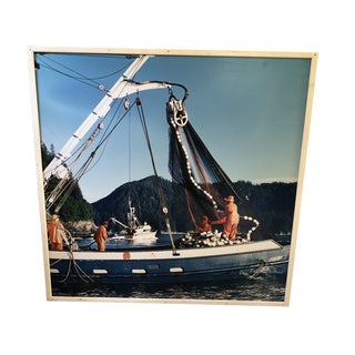 Large Retro Lobster Boat Wall Hanging For Sale