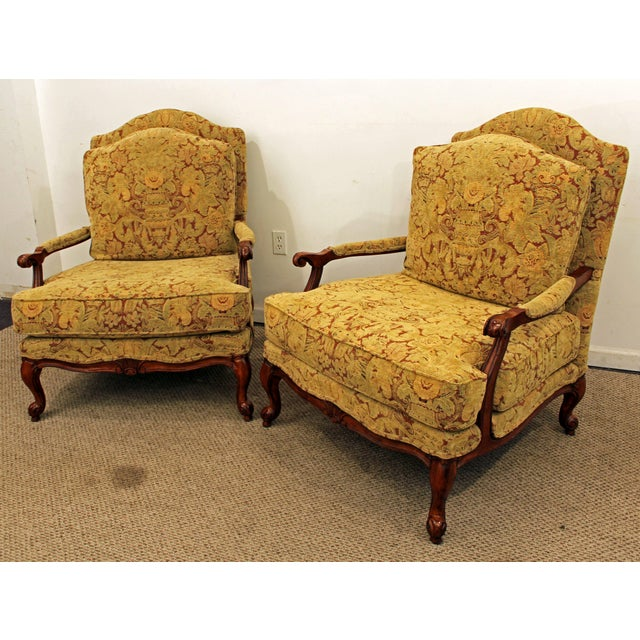 Ethan Allen French Country Lounge Chairs - A Pair - Image 3 of 11