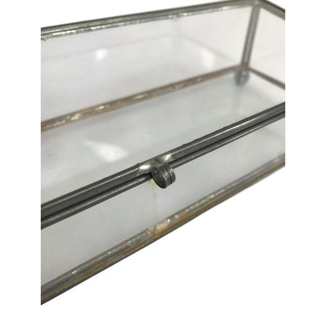 Rectangular Glass Box on 4 Marble Feet - Image 2 of 8