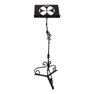 Antique Iron Lectern With Maltese Cross For Sale