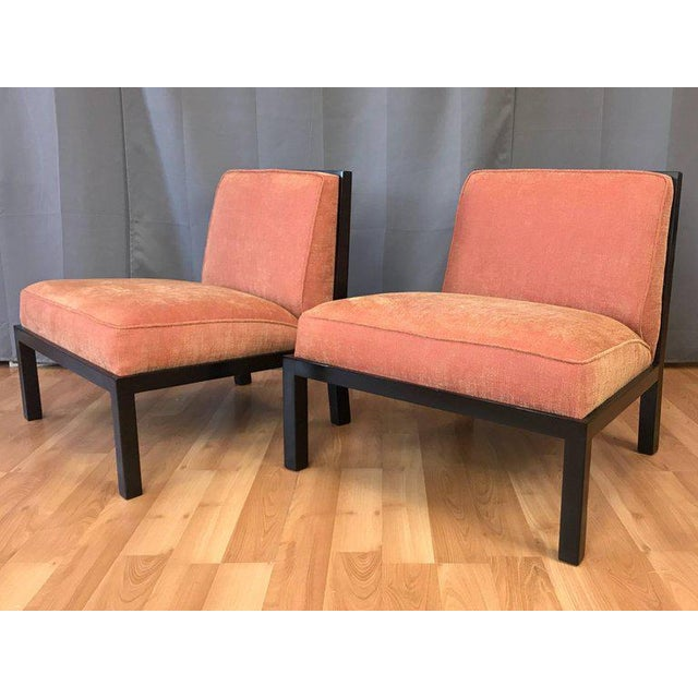 Baker Furniture Company Michael Taylor for Baker Far East Collection Slipper Chairs - A Pair For Sale - Image 4 of 13