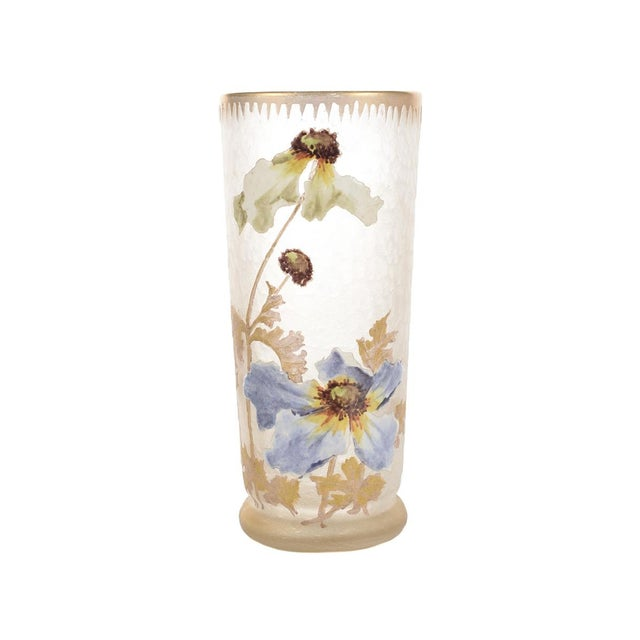 Legras Mont Joye Art Nouveau Painted Vase - Image 2 of 8