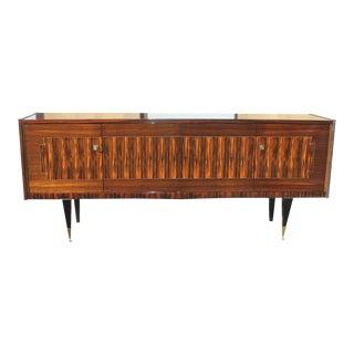 1940s Vintage Art Deco Exotic Macassar Ebony Sideboard For Sale