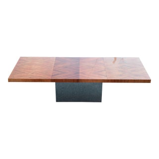 Rosewood and Chrome Milo Baughman Dining Table For Sale