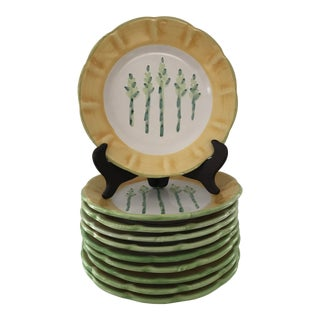 Williams Sonoma Country Fair Asparagus Plates- Set of 10 For Sale