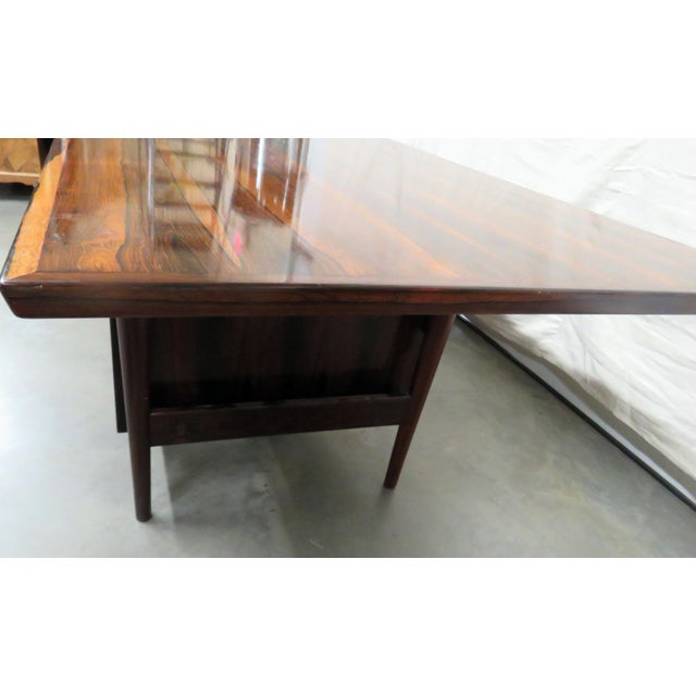 Large Mid-Century Modern Rosewood Desk For Sale - Image 9 of 11
