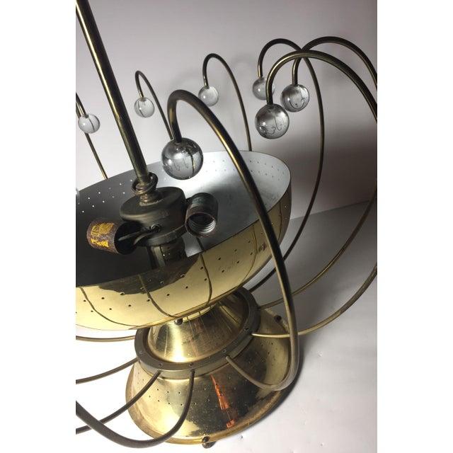 Gold Lightolier Chandelier Ceiling Fixture Lamp For Sale - Image 8 of 10