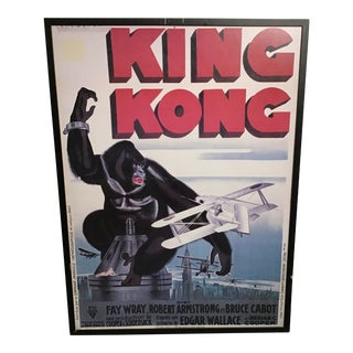 Vintage King Kong Framed Movie Poster For Sale