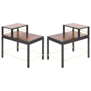 Edward Wormley for Dunbar Rosewood End Tables For Sale
