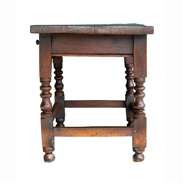 Brown Spanish Baroque Walnut Table For Sale - Image 8 of 10