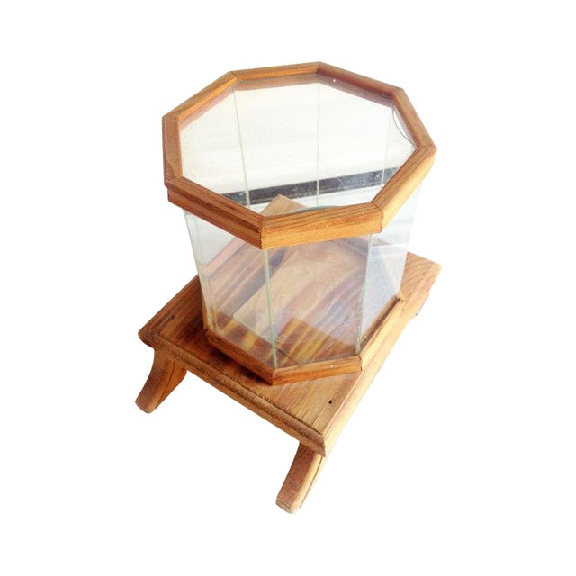 Wood and Glass Octagonal Terrarium - Image 1 of 5