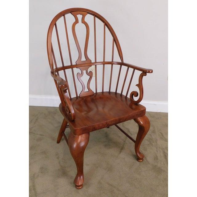 Bob Timberlake Lexington Furniture Set 4 Cherry Windsor Dining Chairs For Sale In Philadelphia - Image 6 of 13