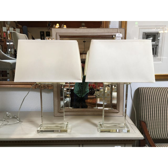 Restoration Hardware Crystal Pair Table Lamps - a Pair - Image 2 of 6