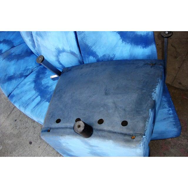 Textile Modern Semi Round Sofa For Sale - Image 7 of 13
