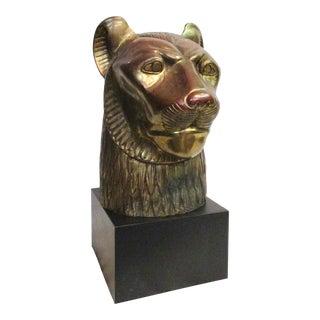 Cast Aluminum Gothic Lion