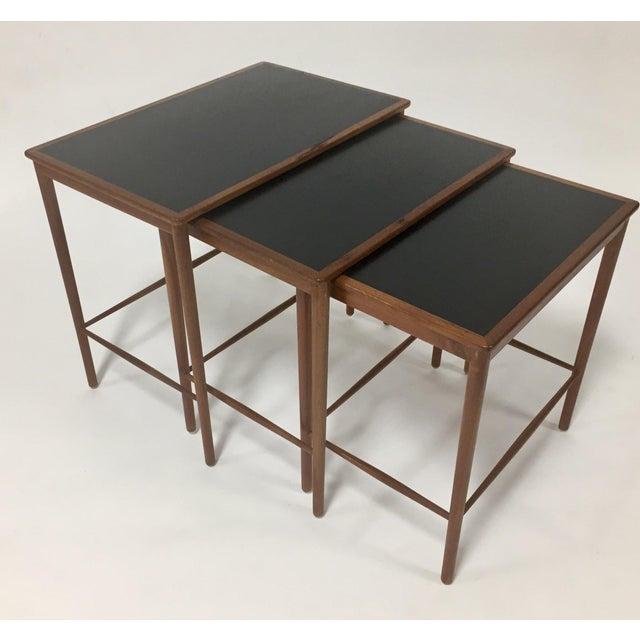 Danish Modern 1970s Mid Century Modern Poul Jeppesen Nesting Tables - Set of 3 For Sale - Image 3 of 7